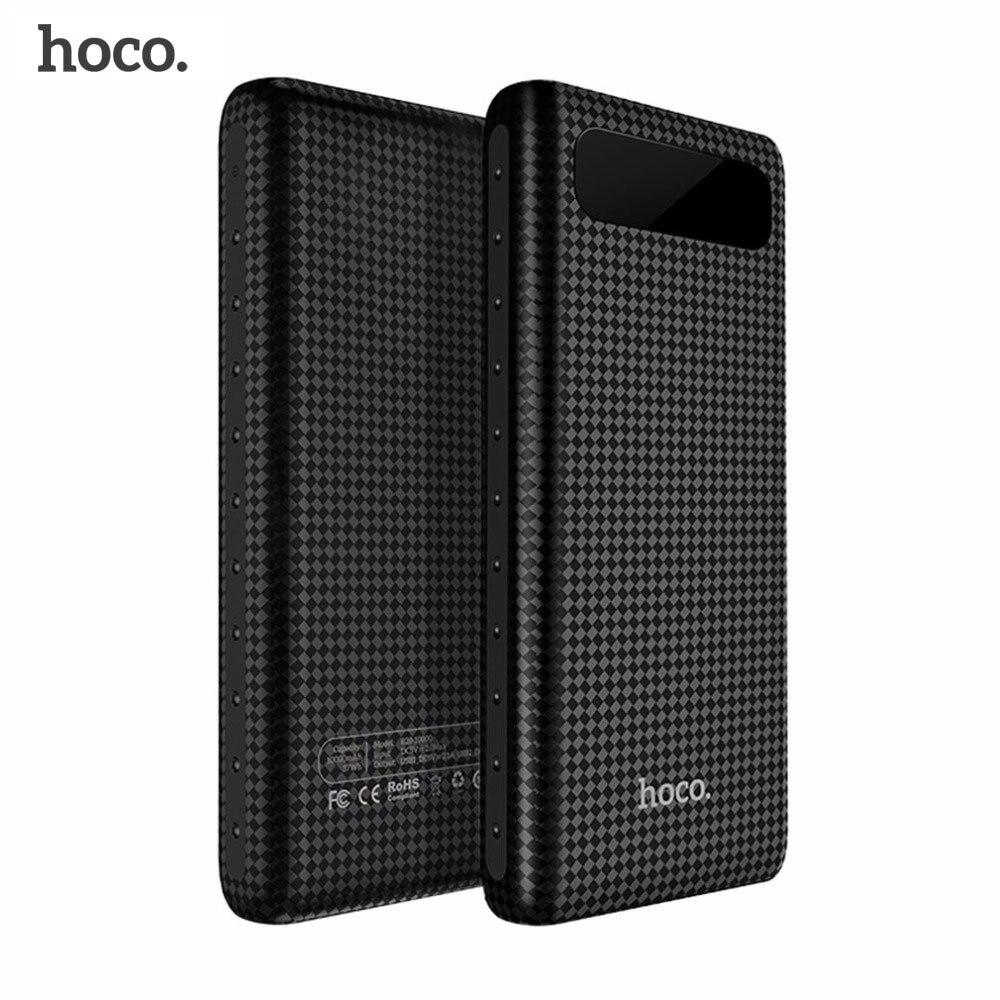 Original HOCO 20000mAh Power Bank 18650 Portable External Battery USB Charger Universal Mobile Phone 10000mAh PowerBank