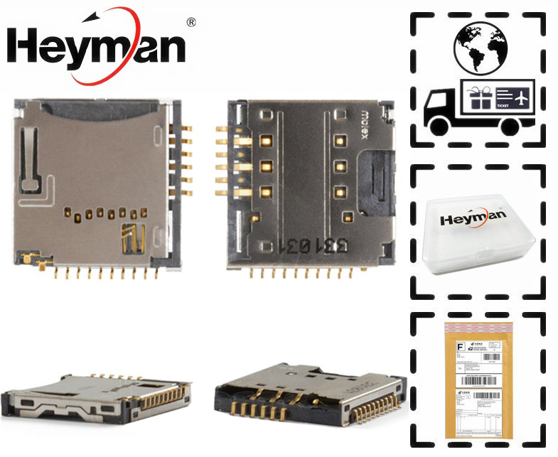 Heyman Flat Cable for LG GD310, GD580, KF350 Cell Phones (with memory card connector) SIM Card Connector Replacement part