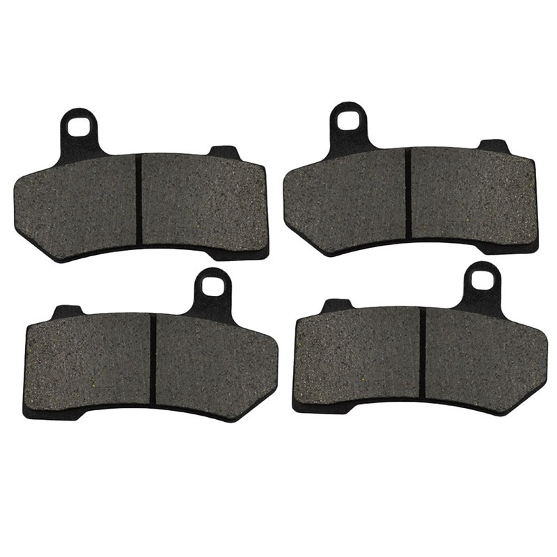 2 Pairs Motorcycle Brake Pads for HARLEY DAVIDSON FLTR Road Glide 2008-2009 Black Brake Disc Pad