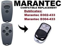 copy Marantec D302, D304 433Mhz  Garage Door/Gate Remote Control Replacement/Duplicator Remote Control Key Fob motorlift 84330e 84335e 84334e replacement remote control 433mhz dhl free shipping