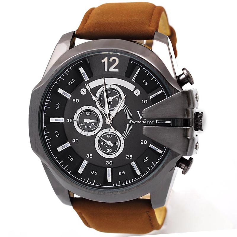 fpx item watches shop the leather brown diesel part mega watch chief this strap is cheif mens men belt of chronograph s product