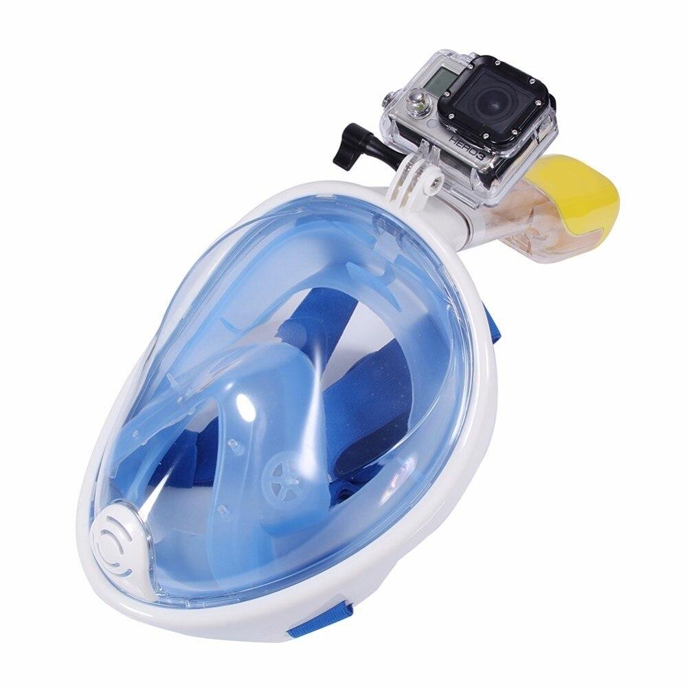Masque de plongée sous-marine Anti-buée masque de plongée avec tuba formation de natation plongée sous-marine Mergulho masque de plongée en apnée pour caméra Gopro