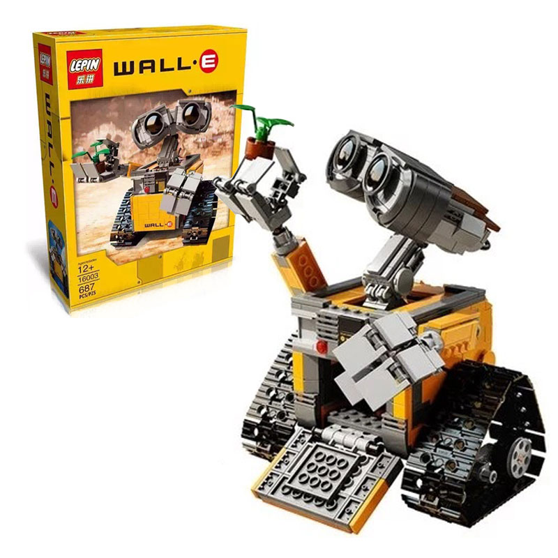 NEW LEPIN 16003 Wall-E Model building kits compatible with lego city 3D blocks Educational toys hobbies for children lepin 14018 8017 nexus knights siege machine model building kits compatible with lego city 3d blocks educational children toys
