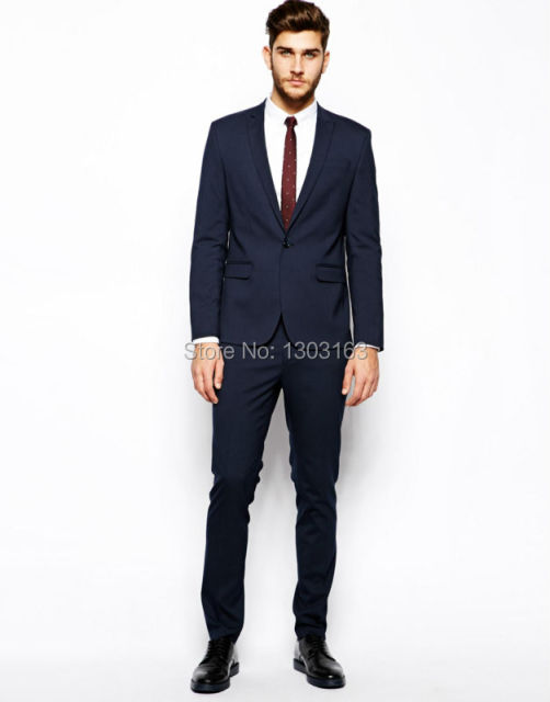 Aliexpress.com : Buy Custom Made Dark Blue Men Suit, Tailor Made ...
