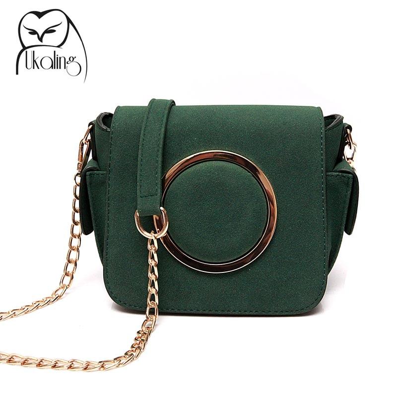 UKQLING Brand Women Messenger Bags Small Flap Crossbody Bag for Women Purse Chain Casual Handbag Designer Sac a Main Bolsas