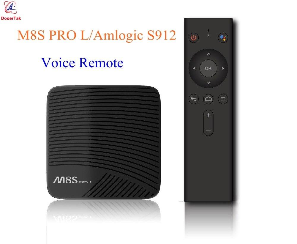 5pcs Mecool M8S Pro L Voice Control TV Box 3GB 16GB 3GB 32GB Android 7 1