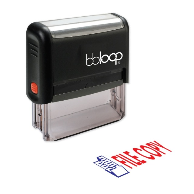 bbloop file copy w illustration self inking stamp rectangular