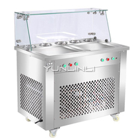 Commercial Ice Cream Roll Maker Double Pan Yogurt Stirring Machine with Independent Control Ice Cream Mixing Machine HX CB25S