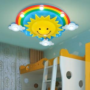 Image 2 - 크리 에이 티브 어린이 방 침실 천장 조명 따뜻한 빛 눈 led 소년과 소녀 만화 어린이 룸 조명
