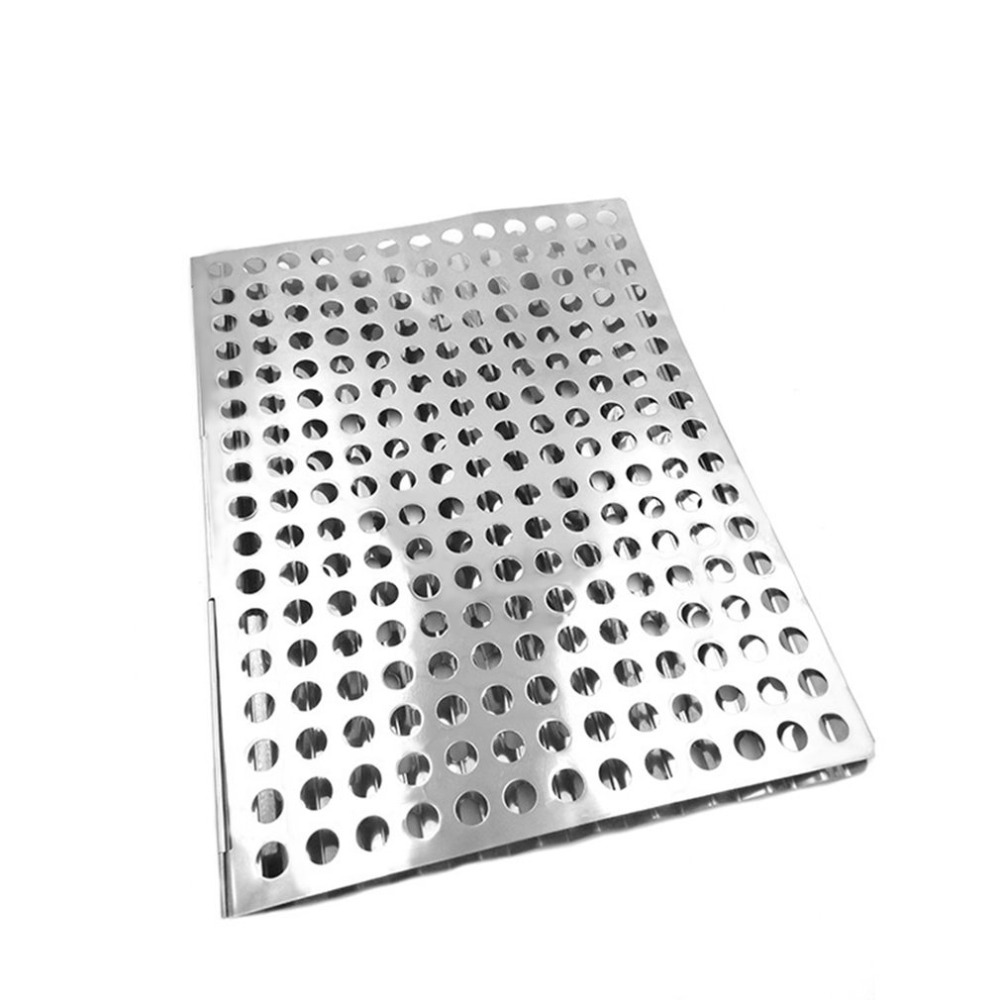 Outdoor Portable Stainless Steel Foldable Fast Heating Ultra Light Mesh  Barbecue Grilling Picnic Cooking Grid Tools