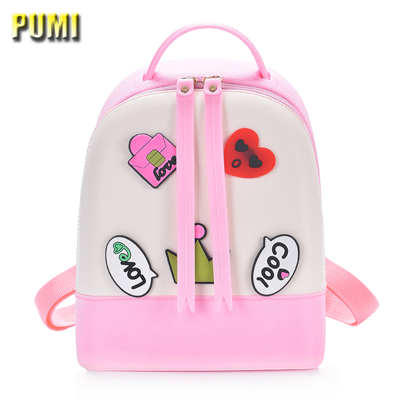 Cute Cartoon Medal Candy Color Silica Gel Backpack for Sweet Baby Girl Kid Children Backpack Women Casual Fresh Jelly School Bag