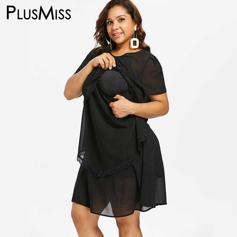 cc0771584fb PlusMiss Plus Size 5XL 4XL Black Chiffon Breastfeeding Nursing Dress Women  Pregnancy Loose Maternity Dresses Big