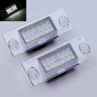 Car Accessories 1 Pair New White Auto Car Error Free LED License Plate Light Lamps Bulb