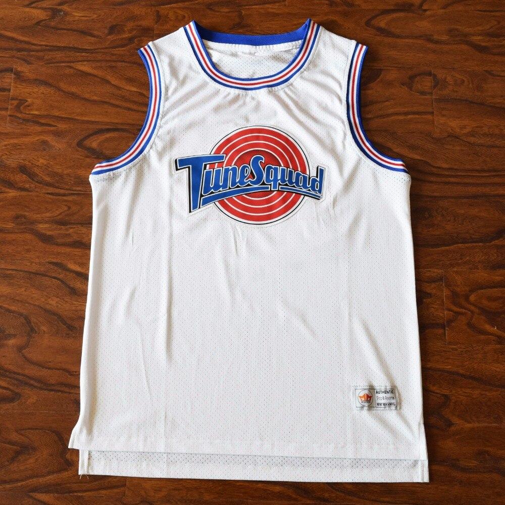 MM MASMIG [17 Tipi] Space Jam Bugs 1 Lola 10 Murray 22 Jordan 23 Tune Squad Basketball Jersey Cucita Bianco