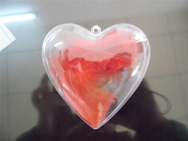 clear plastic hollow balls heart shaped sweet candy chocolate box ...