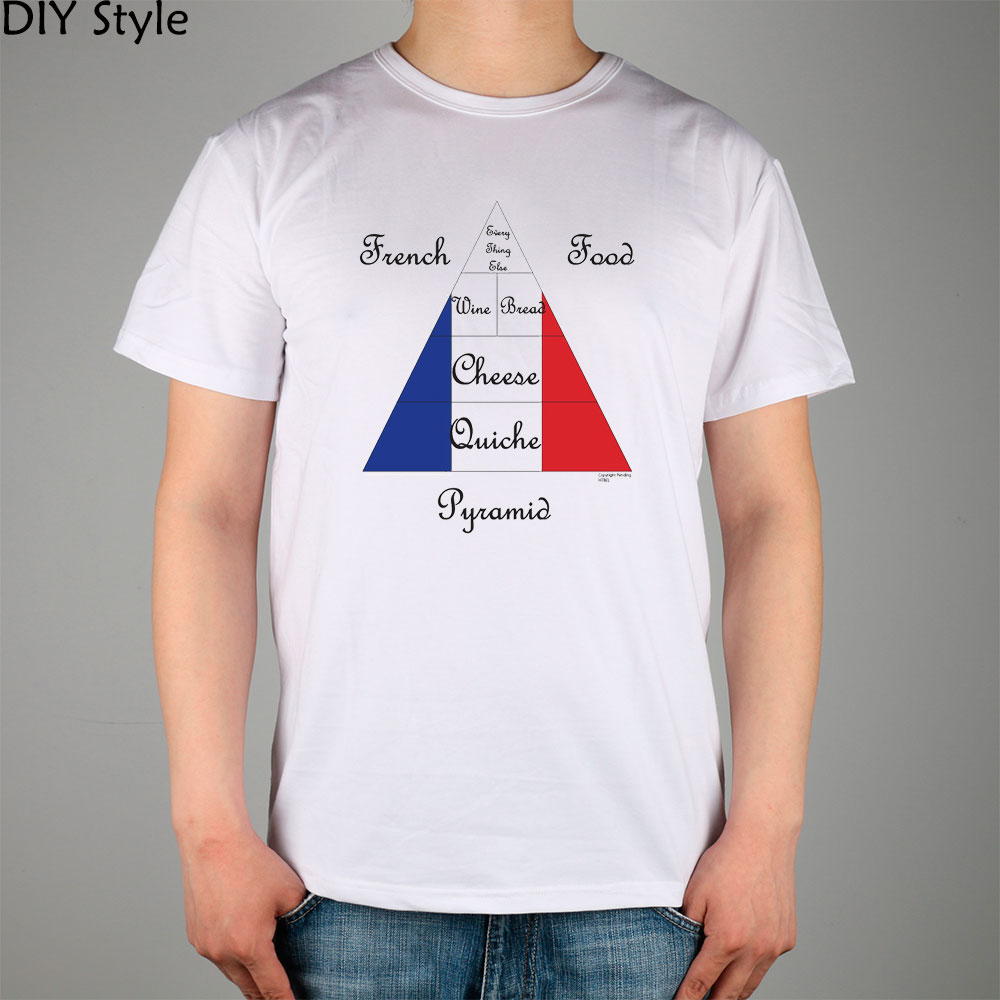 french food pyramid cuisine humorous t shirt men short. Black Bedroom Furniture Sets. Home Design Ideas