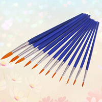 12x Round Pointed Tip Nylon Hair Brush Artist Paint Water Color Painting Pens Office & School Supplies