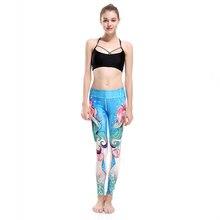 3XL LOVE SPARK Blue Sea Princess Girls Sports Yoga Pants Women Sport Running Jogging Dance Leggings Pantalones Mujer