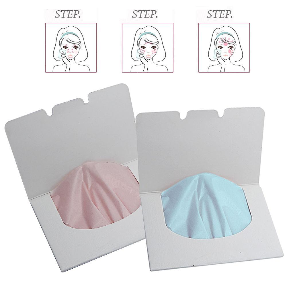 35# 2019 Easy To Use Face Cleaning 100Sheets Make Up Remover Tool Oil Absorbing Paper Blotting Facial Cleaning Oil Control