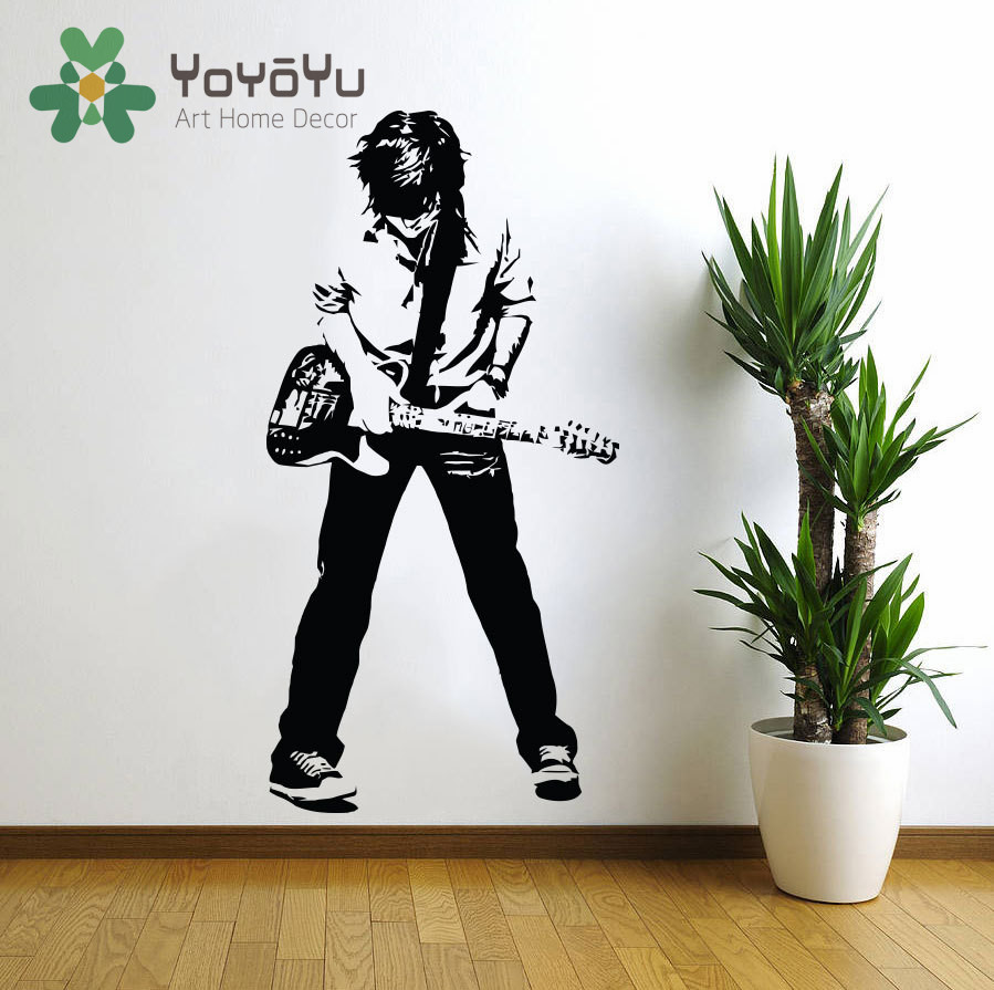 Online buy wholesale guitar bedroom from china guitar for Rock home decor