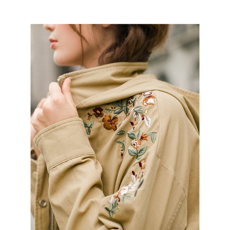 INMAN Autumn New Arrival Hoodies Women Embroidery Long Sleeve Jacket in Jackets from Women 39 s Clothing