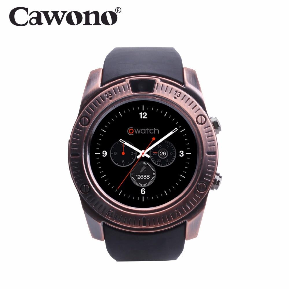Cawono CN7 Bluetooth Dispositivo Indossabile Orologio Da Polso di Sostegno SIM Carta di TF Intelligente Orologio per iPhone Huawei xiaomi LG Android VS DZ09 GT08