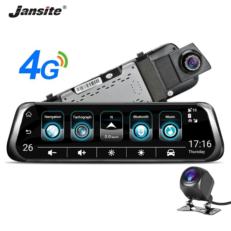 Jansite 3G 4G WIFI Car DVR 10 Touch Screen Dual Lens Android Car Camera ADAS Remote