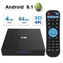 Android 8.1 Smart TV Box LeelboxT9 4GB RAM 32GB/64GB ROM Rockchip RK3328 H.265 4K Optional 2.4G/5Ghz Dual WIFI TVbox Set top box