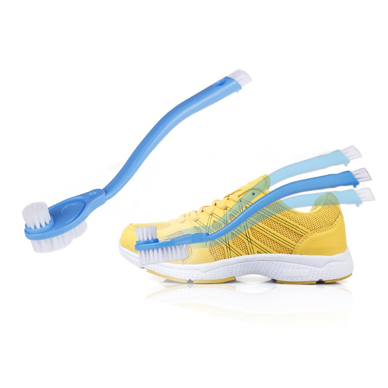3 Brushes Double Handle Shoe Brush Cleaning Wipe Shoe Care For Casual Shoes And Sneakers Washing Toilet & Gas Stove Thin Brushes