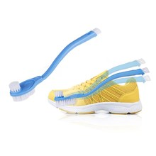 3 Brushes Double Handle Shoe Brush Cleaning Wipe Shoe Care F
