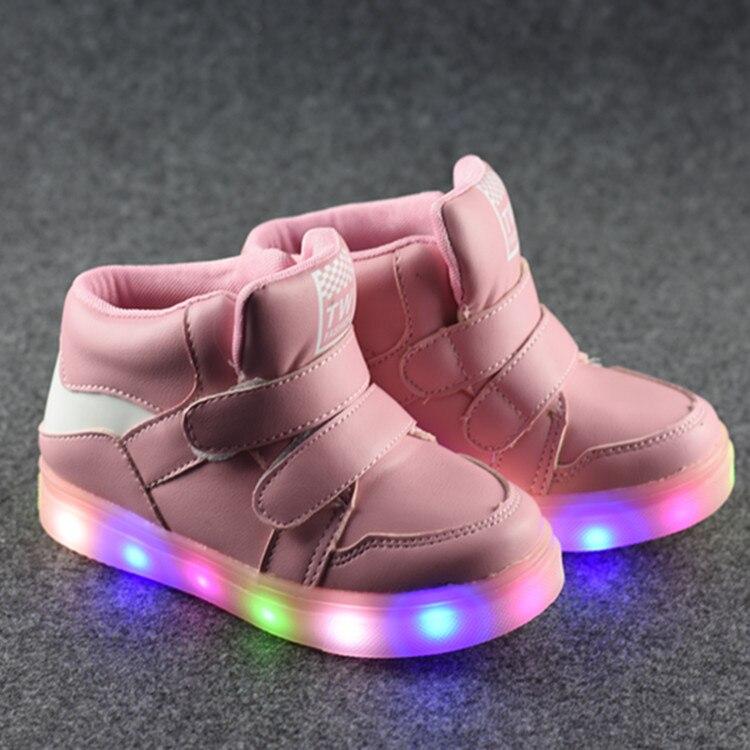 2017 nouvelles chaussures d'automne enfants Gobon chaussures de sport légères chaussures de sport en gros lampe à LED - 3