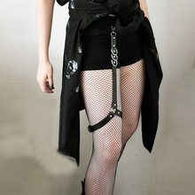2019 New Arrival Sexy Lingerie Women Bondage Thigh Garter Harajuku Gothic Harness Ladies Suspender Black Stocking Leather Belts