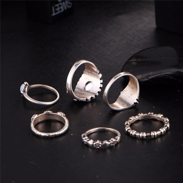 HTB1o4UNOFXXXXXBaXXXq6xXFXXXc 6-Pieces Boho Ethnic Vintage Turquoise/Opal Knuckle Ring Set For Women - 2 Styles