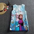 Selling digital printing trade frozen Princess Dress Girls cartoon Jacquard Dress