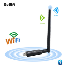 1200Mbps USB3.0 Dual Band 802.11ac Wireless USB Network Card Wifi Lan Dongle Bluetooth Adapter With 5 Dbi Antenna