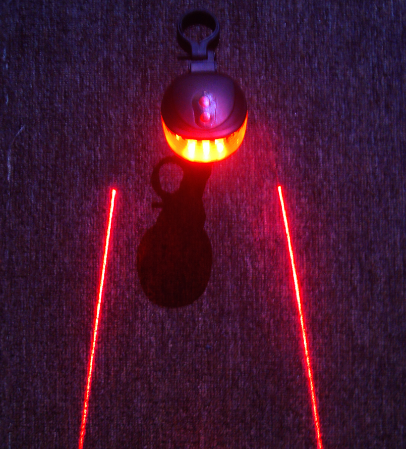 Bicycle 5 Led Light 2 Lasers Night Mountain Bike Tail Light