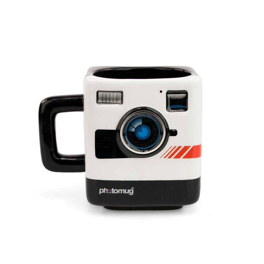 PHOTO MUG Authentic Camera Cup Keller Polaroid Camera Shape Mugs Cool Creative Photographer Gifts