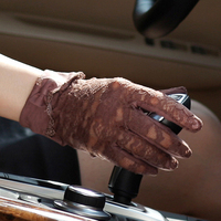 Free Shipping Women Sunscreen Gloves Female Lace Summer Five Finger Anti UV Wrist Short Sun Driving