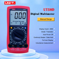 UNI T Digital Multimeter UT58D AC/DC Volt Amp Ohm Capacitance Inductance Tester 20A