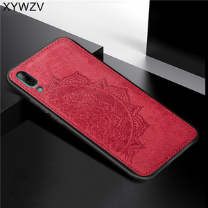 Image 5 - Huawei Y7 Pro 2019 Shockproof Soft TPU Silicone Cloth Texture Hard PC Phone Case For Huawei Y7 Pro 2019 Cover For Huawei Enjoy 9
