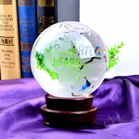 LS кварцевый Глобус 150 мм шар ORB орнамент домашнего декора уникальный подарок с деревянной подставке