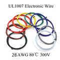 5 metres 28AWG UL1007 PVC insulated Wire Electric cable, LED cable, DIY Connect 10 color choose Free shipping