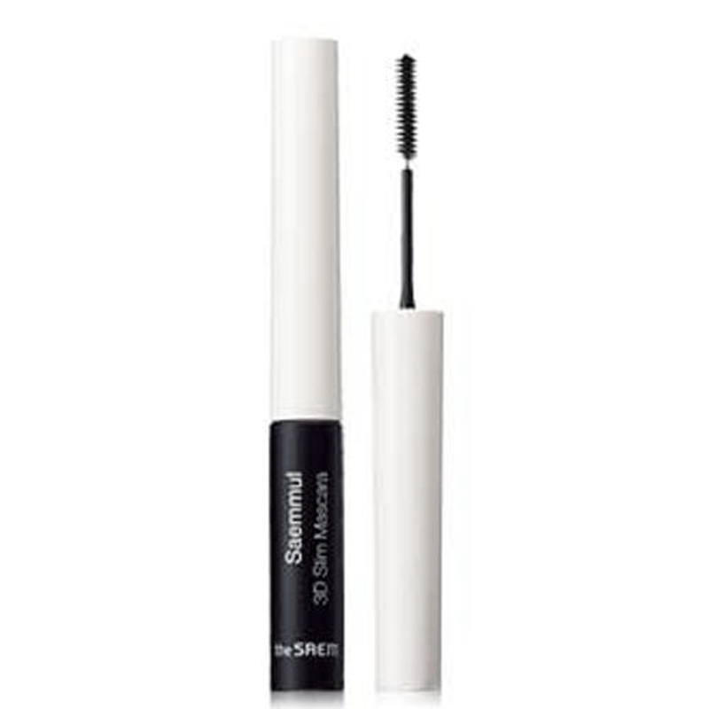 THE SAEM Saemmul 3D Slim Mascara Black Thick Waterproof Curling Make Up Volume Natural Eyelash Korea Cosmetics удлиняющая тушь для ресниц the saem saemmul circle mascara