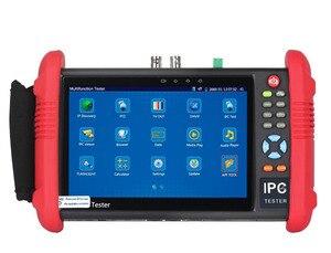 Новый 7 дюймовый тестер системы скрытого видеонаблюдения, монитор IP тестер аналоговых камер 4 МП 2 Мп WIFI Onvif PTZ контроль POE 12 В выход