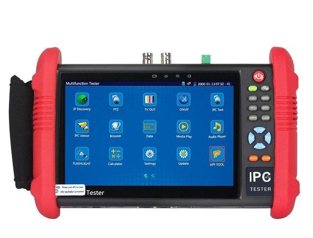 חדש 7 אינץ CCTV Tester צג IP אנלוגי מצלמה בודק 4MP 2MP WIFI Onvif PTZ בקרת POE 12 V פלט