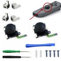 Nintend Interruttore NS Gioia Con 3D Analogico Thumb Stick Sensore Potenziometro con la Serratura Del Metallo Fibbie di Riparazione del Cacciavite Viti Springs