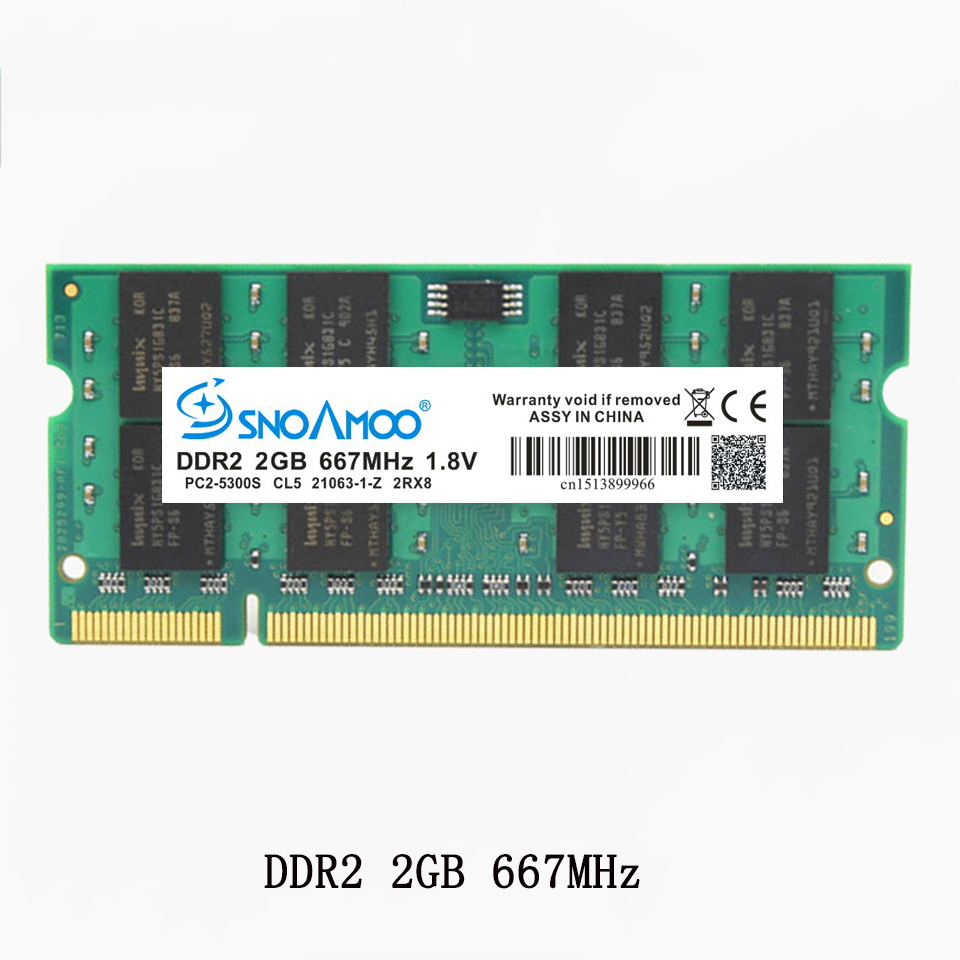 SNOAMOO Laptop Memory DDR2 With 667MHz PC2-5300S CL5 800MHz 3