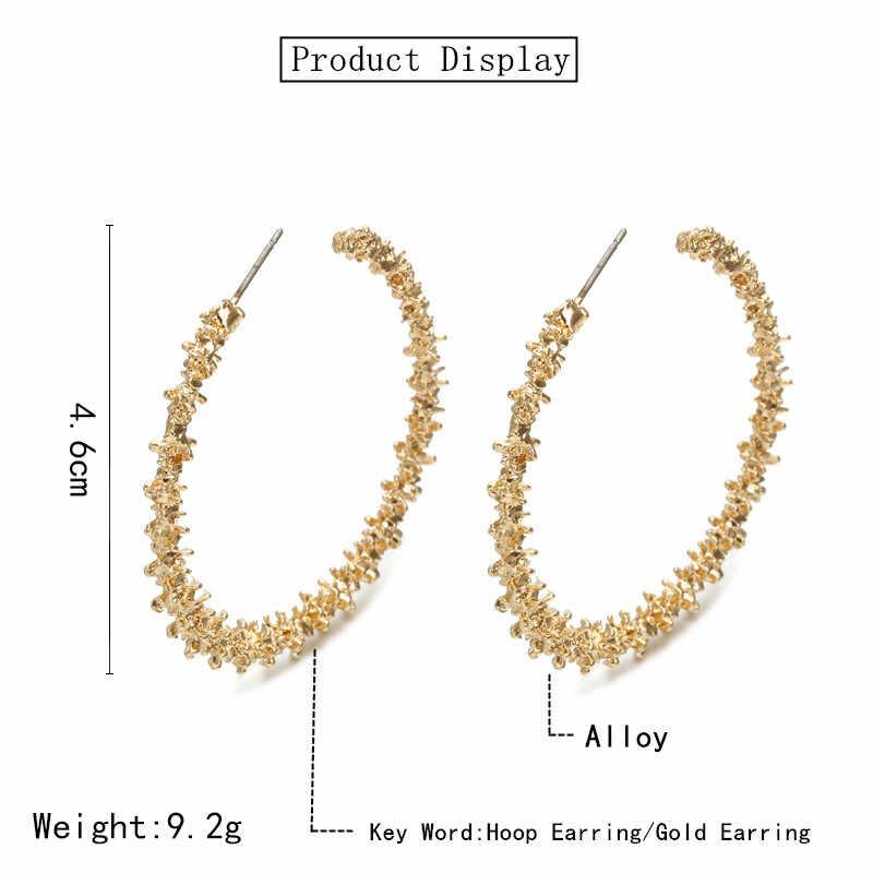 אהבה פשוטה גיאומטריה גדול עגילי חלול החוצה פנים עגילים עגול כוכב ירח אלגנטי עגילי מתנות לנשים מסיבת חתונה
