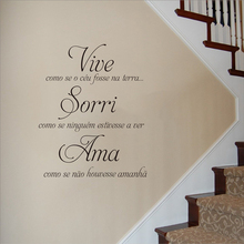 Home Decoration Wall Stickers Decor Quote Love Vinyl Decals Ama Wallpaper AY1907