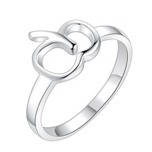apple shiny beautiful Silver plated Ring Fashion Jewerly Ring Women&Men , /GVTRGBWL VPSMVFRS